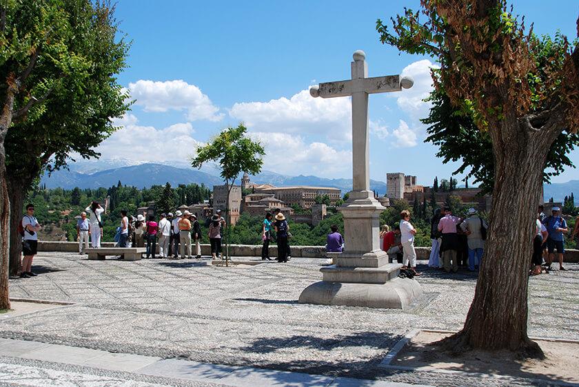 Mirador de San Nicolas Albayzin di Granada