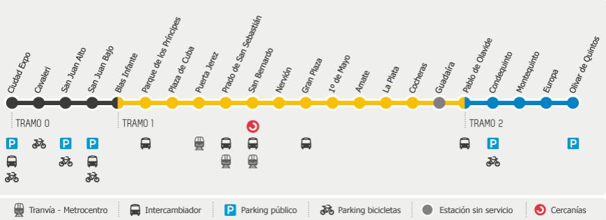 Pianta metro Siviglia mappa